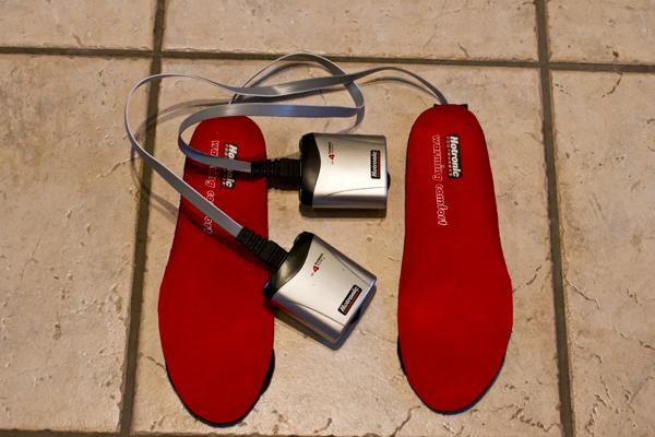 Elektrisk oppvarmede sokker