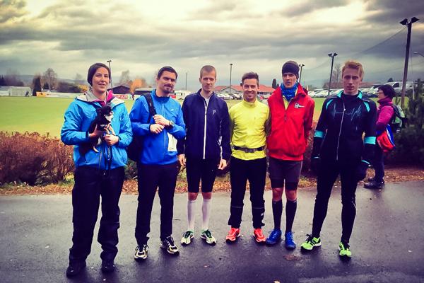 Scan4news sitt lag på Ottestadstafetten 2013 (pluss Lars Marius som løp hele distansen)